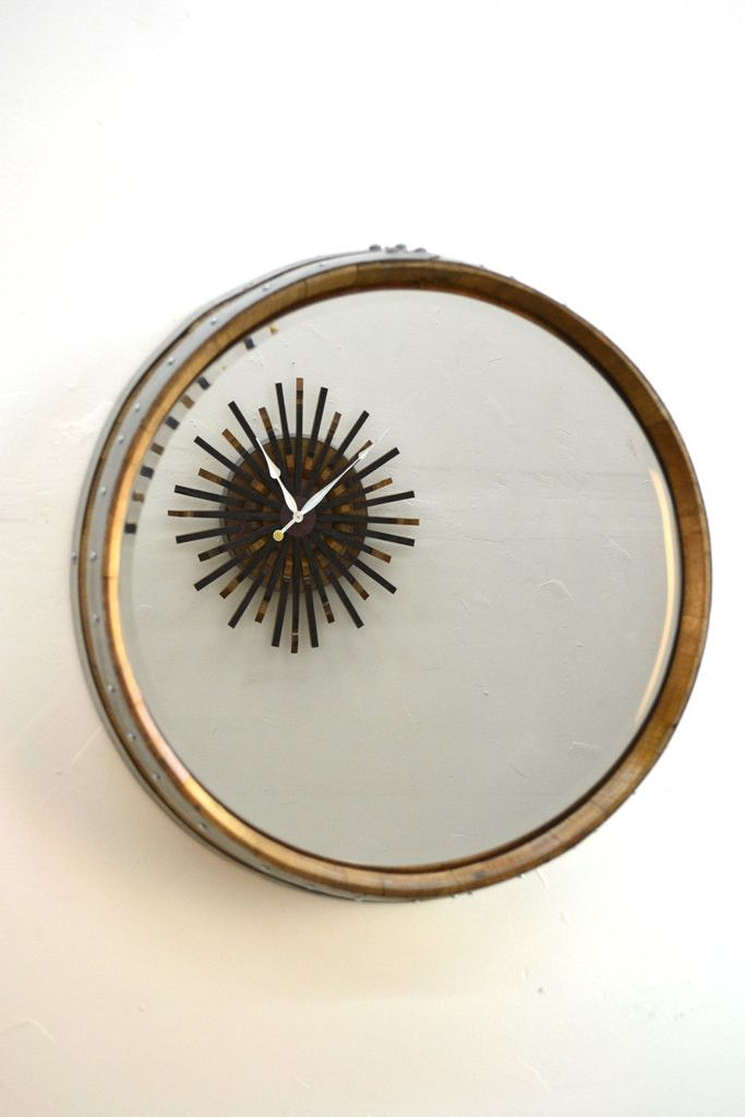 """""""Corisande"""" Wine Barrel Mirror made 100% recycled from Sonder Mill. #Wine #Gifts #SonderMill"""
