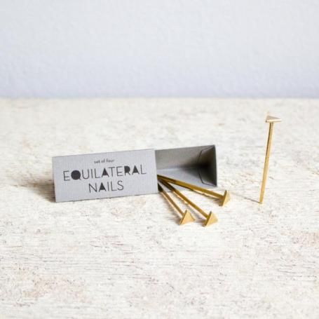 Equilateral Bronze Nails: Remodelista for hanging my jewelry