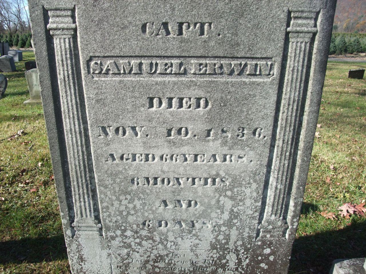 Samuel F. Erwin (1770 - 1836) - Find A Grave Photos