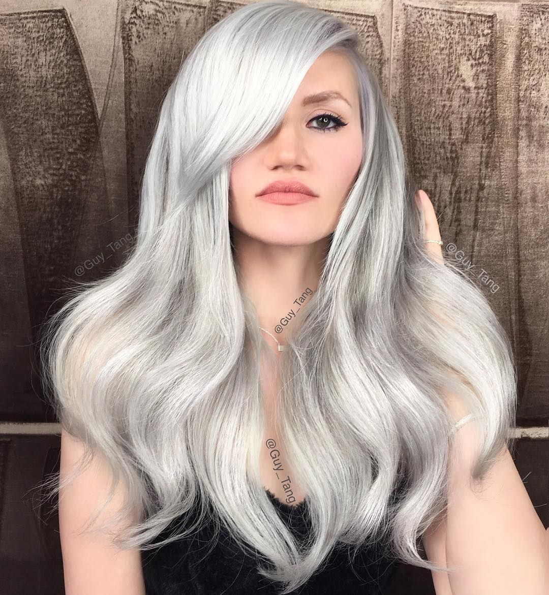 Platinum White Blonde By Guy Tang White Blonde Hair Silver Hair