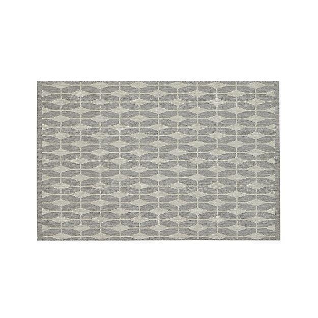 Aldo Dove Grey Indoor-Outdoor 4'x6' Rug $99.95 or 2X3 - $19.00