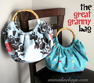 Emmaline Bags: Sewing Patterns and Purse Supplies: Free Purse Tutorial: The Great Granny Bag