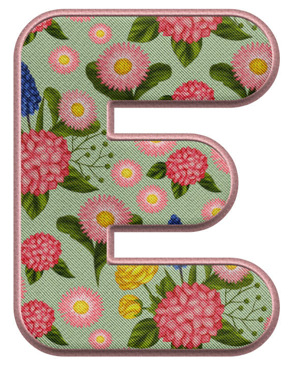 Pin on Alphabet / Flowers