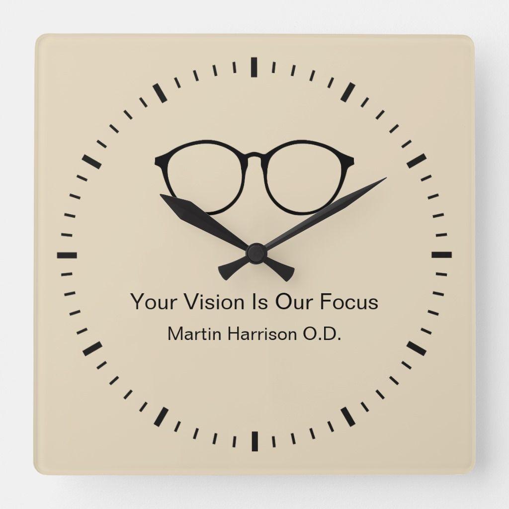 Eye Doctor Office Waiting Room Clocks | Zazzle.com