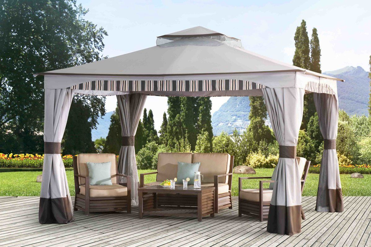 Graypointe 12 Ft. W x 10 Ft. D Metal Patio Gazebo in 2020 ...