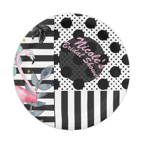 Summer Pink Flamingo Polka Dot Fun Funky Party Paper Plate | Pool Birthday Party | Pinterest  sc 1 st  Pinterest & Summer Pink Flamingo Polka Dot Fun Funky Party Paper Plate | Pool ...
