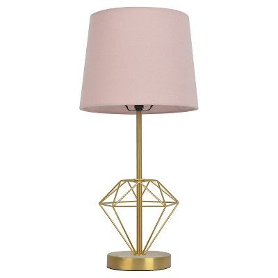 Pillowfort wire diamond table lamp diamond target and bedrooms add lighting and style to any room in the house with the wire diamond table lamp from pillowfort this table lamp with a gem shaped base is a unique way to greentooth Image collections