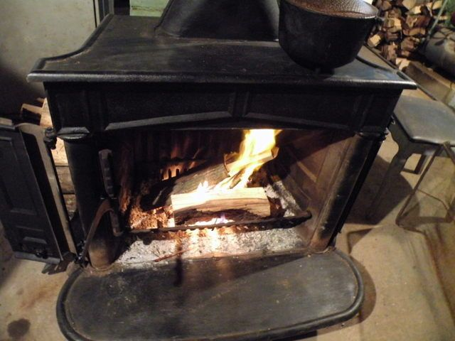Cooking On A Franklin Wood Stove - Cooking On A Franklin Wood Stove Woodburning Stove / Fireplace