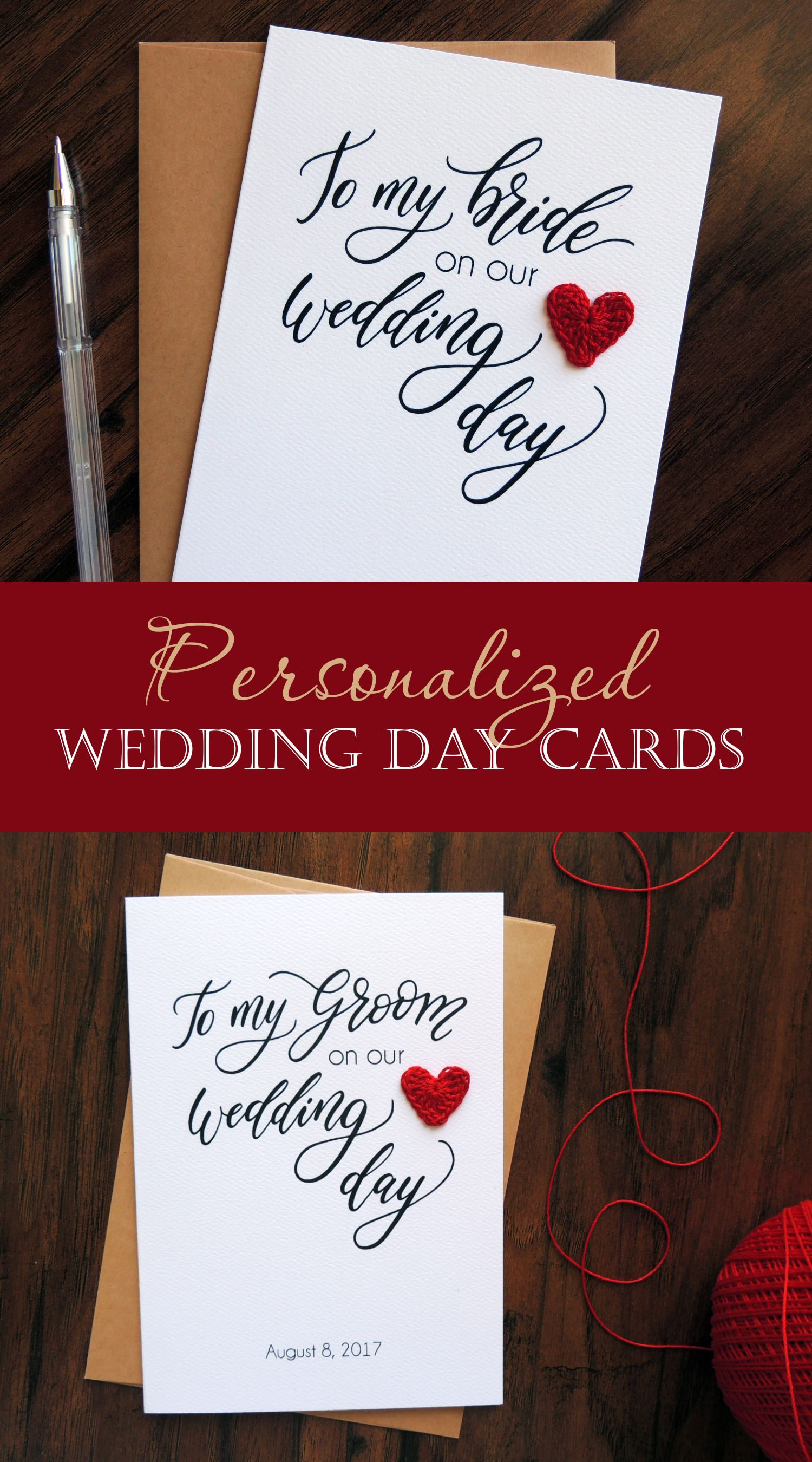 Unique And Elegant To My Groom On Our Wedding Day Card With Your