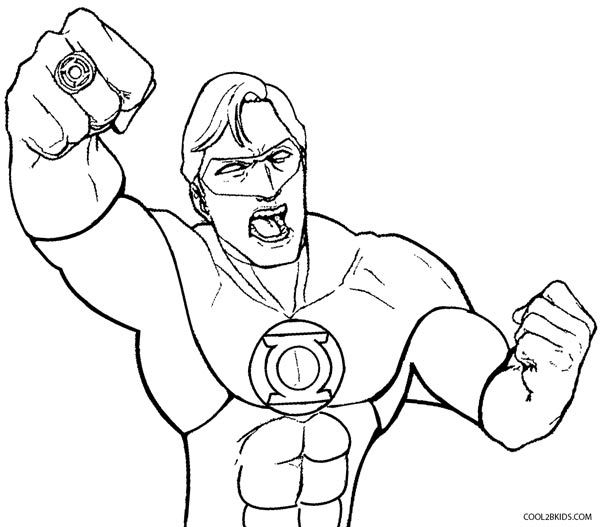 Green Lantern Coloring Pages Coloring Pages For Kids Coloring Books