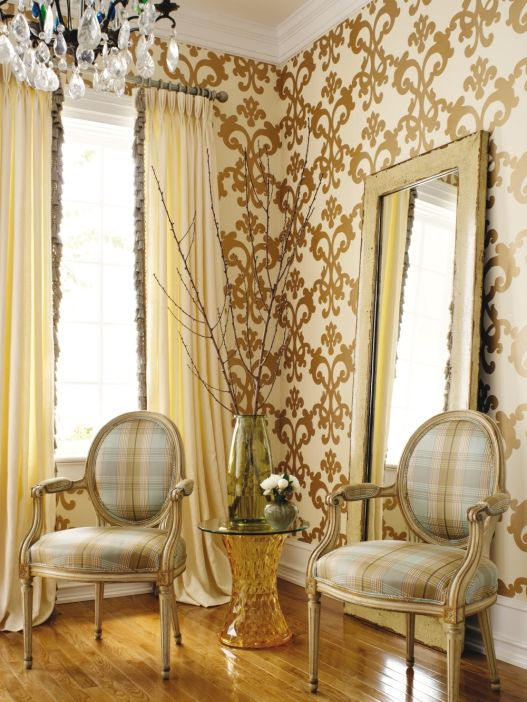 Thibaut, Filigree, Julian | Wall treatments | Pinterest | Filigree ...