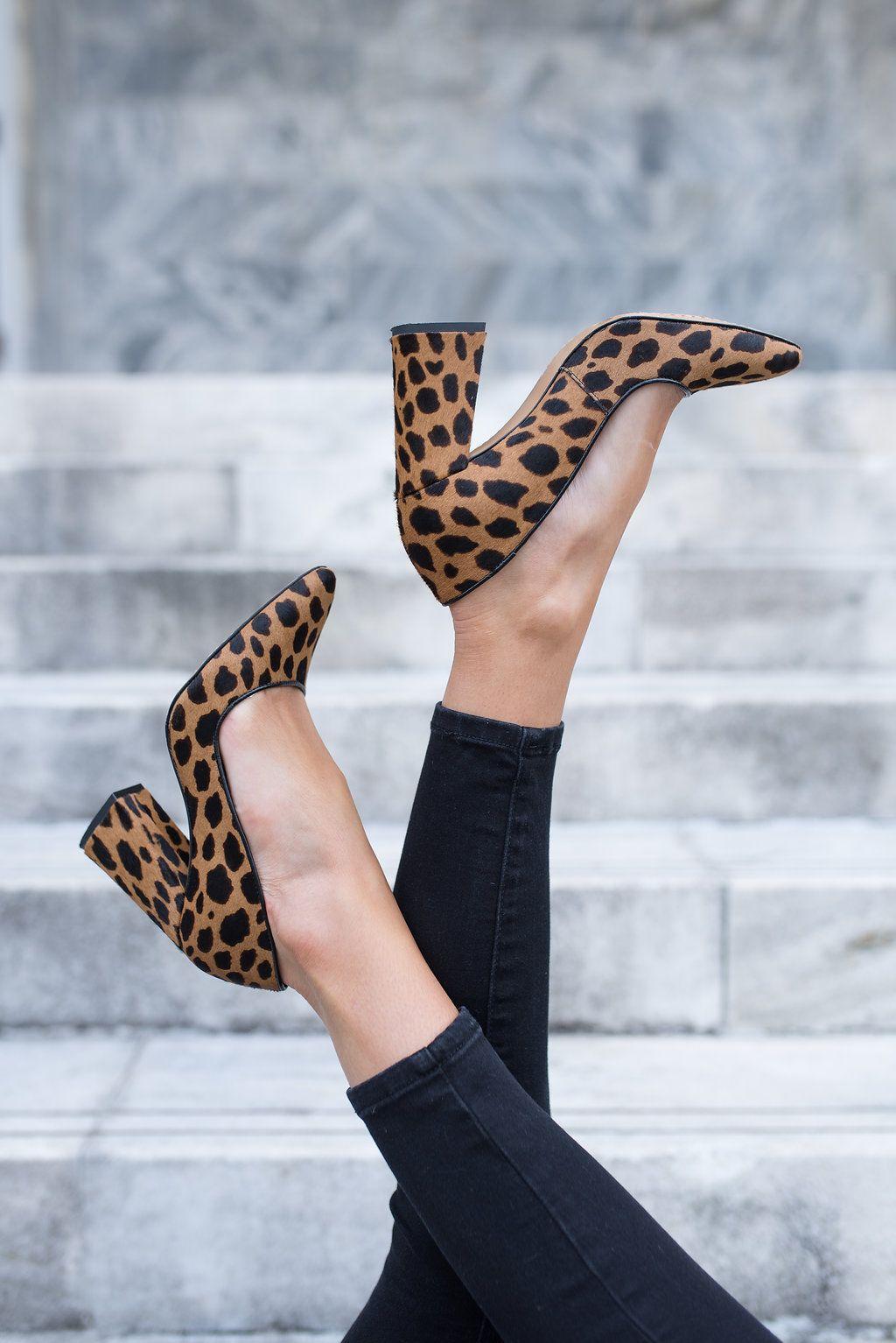 grey animal print shoes