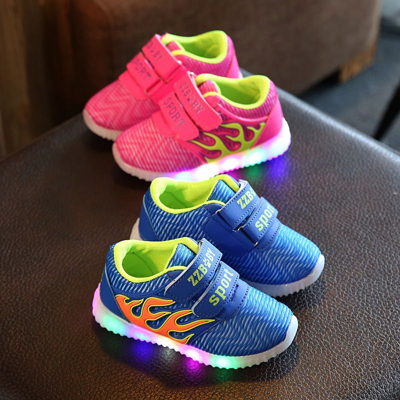 5.5, Pink Children Shoes LED Light Kids Shoes with light Baby Boys Girls Lighting Sneakers Casual Children Sneakers