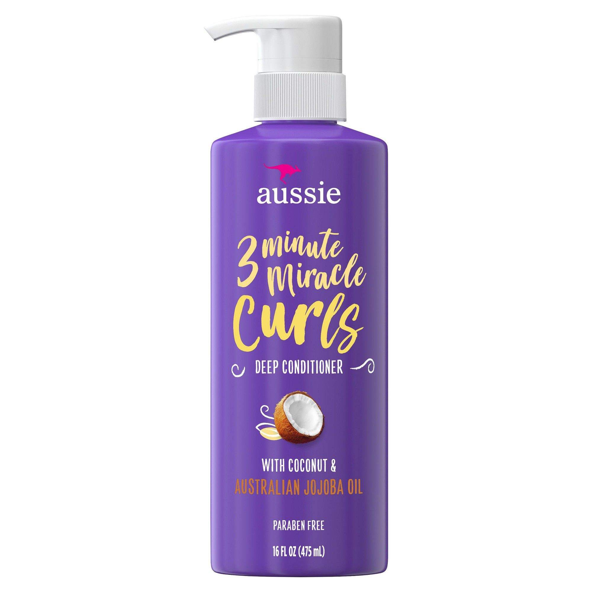 Aussie Paraben Free Miracle Curls 3 Minute Miracle Conditioner