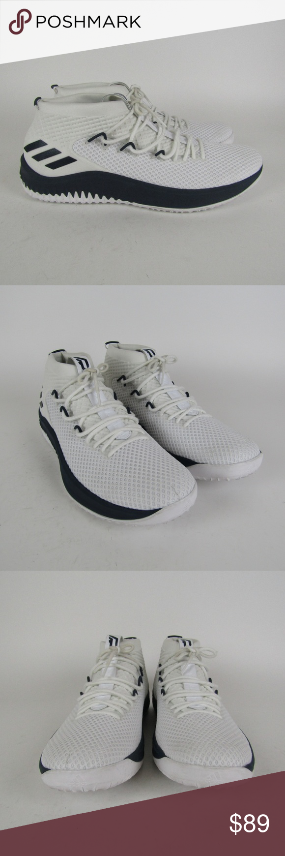 b7cd2cbeb7d157 Adidas Dame 4 Player Exclusive Shoes AC7267 sz 19 Shoes169 Adidas Dame 4  Player Exclusive Men s Basketball Shoes White  Blue AC7267 Size 19 Brand  new ...