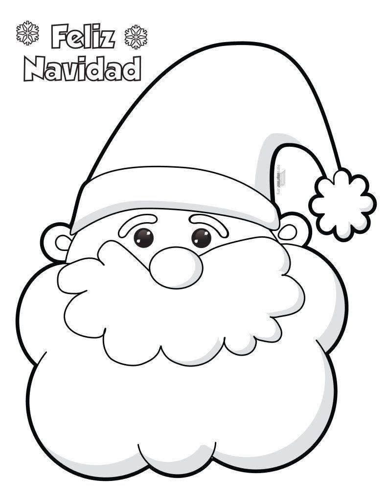 Santa Claus Para Colorear E Imprimir Santa Claus Para Colorear Manualidades Navideñas Manualidades