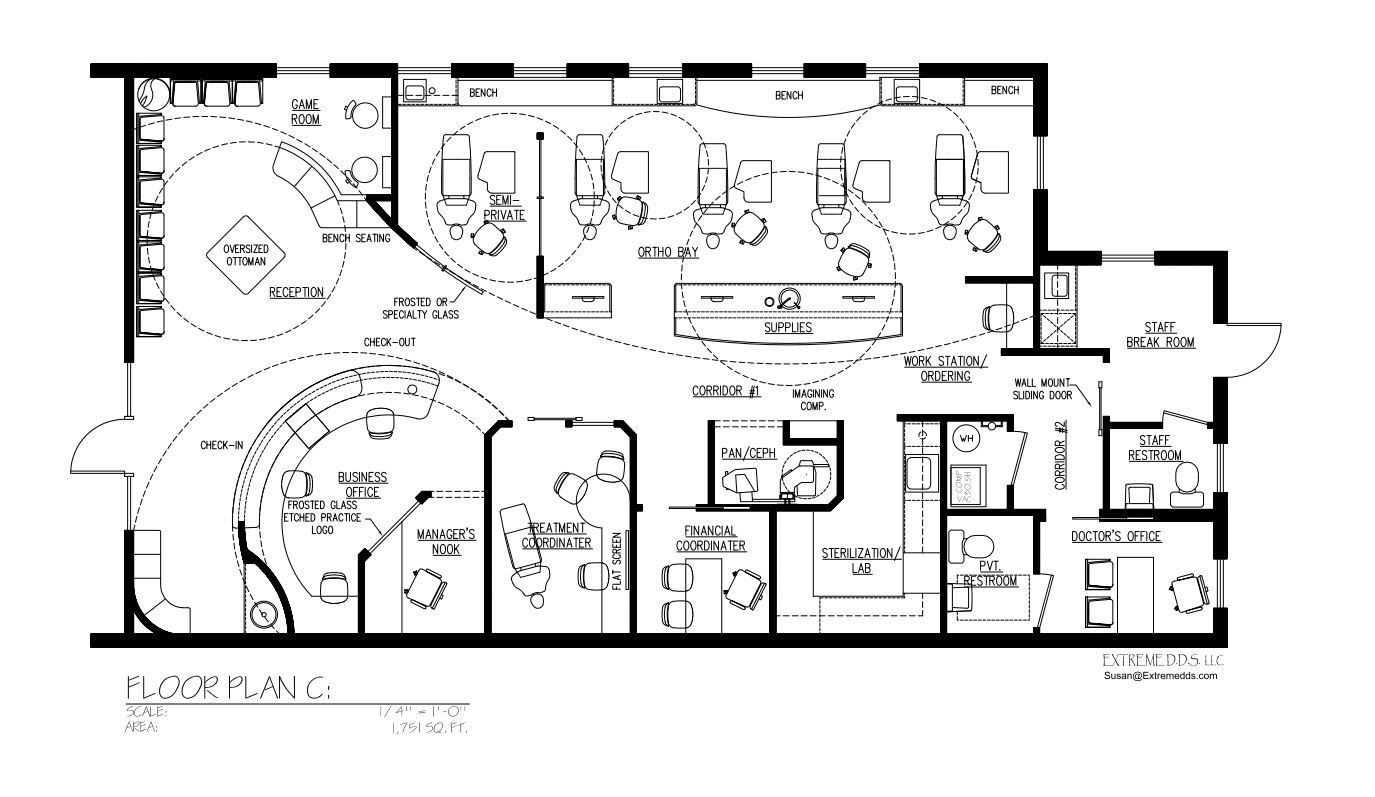 Dental Office Floor Plans, Orthodontic And Pediatric Office Floor Plan,  Dental Plans, Dental