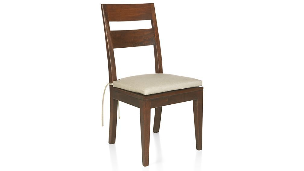 Basque honey wood dining chair and cushion crate and