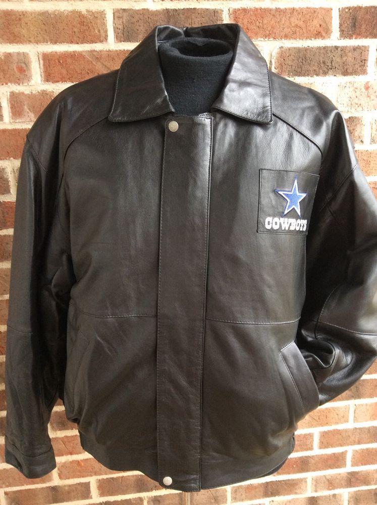 detailed pictures 33585 95643 Jeff Hamilton Dallas Cowboys Leather Jacket Black NFL ...