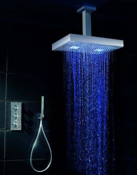 Awesome Modern Interior Of Bathroom With High Tech Shower