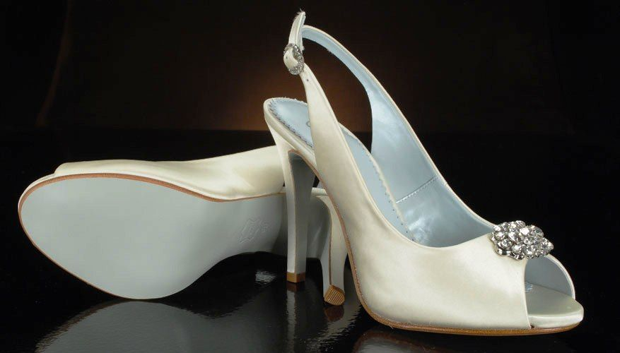 Install A Sky Blue Leather Sole On Pre Purchased Bridal Shoes Wedding