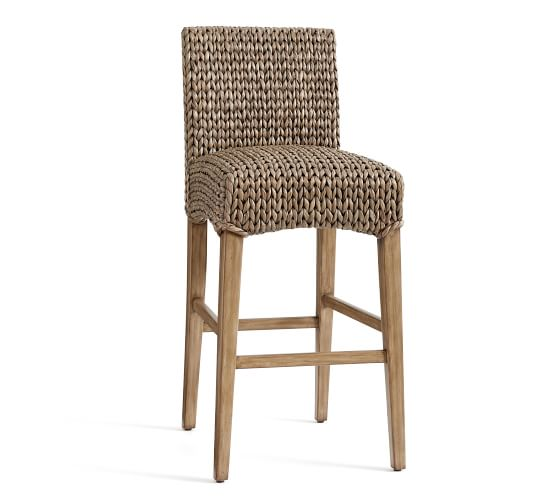 Bar Stools And High Table, Seagrass Bar Counter Stool Pottery Barn Bar Stools Seagrass Bar Stools Wicker Bar Stools