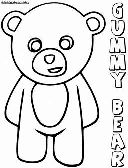 gummy bear coloring page # 10