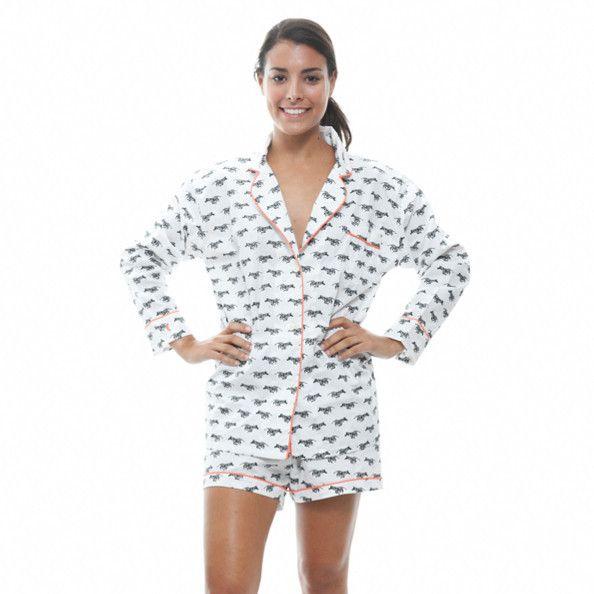 Zebra Lorient Block Print Short Pajama Set  b8f405c08