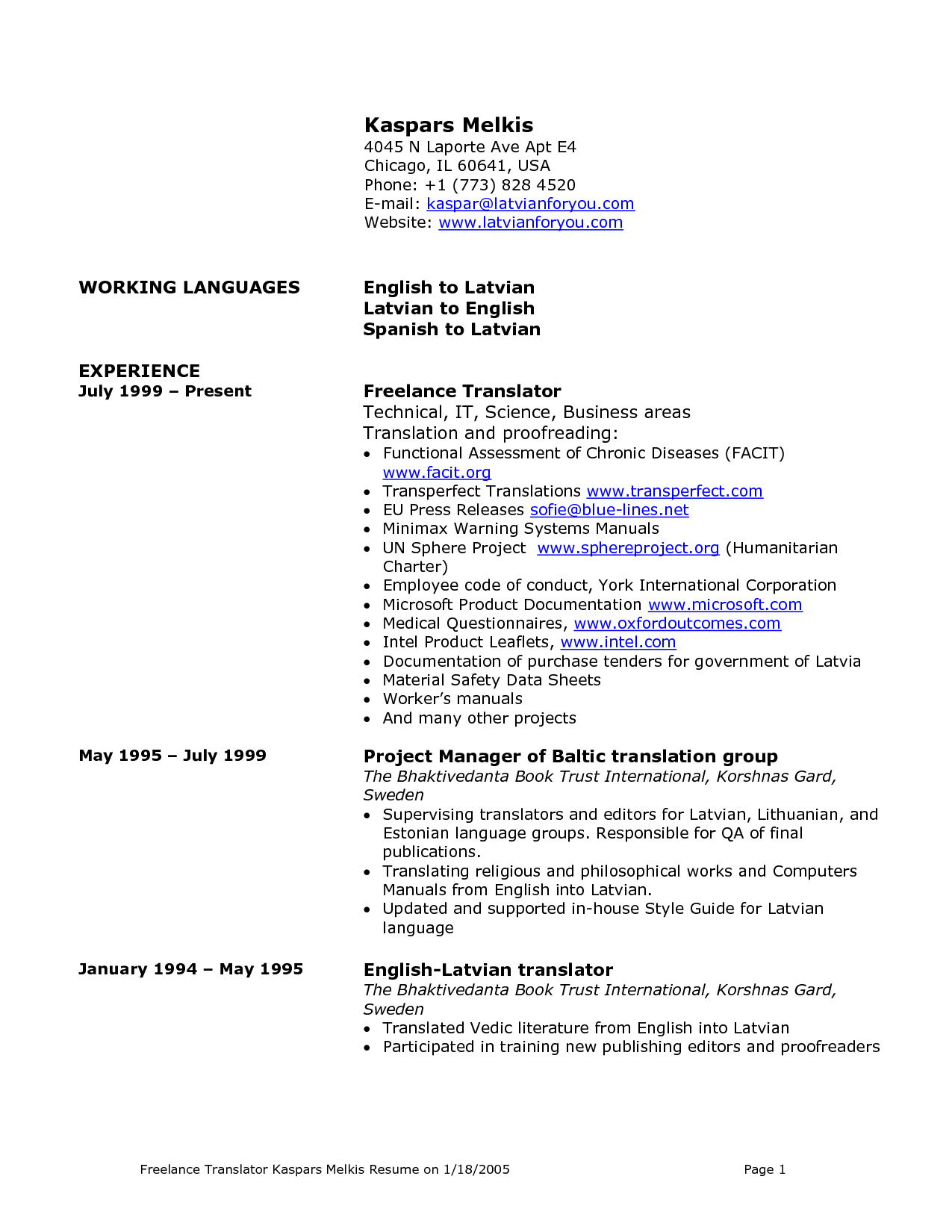 Freelance Resume Sample By Ace38860 Do You Want To Be A Freelancer