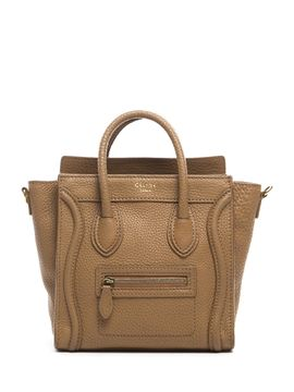 dc21463ec642 Tan Pebbled Leather Nano Luggage Tote Bag from celine on Gilt ...