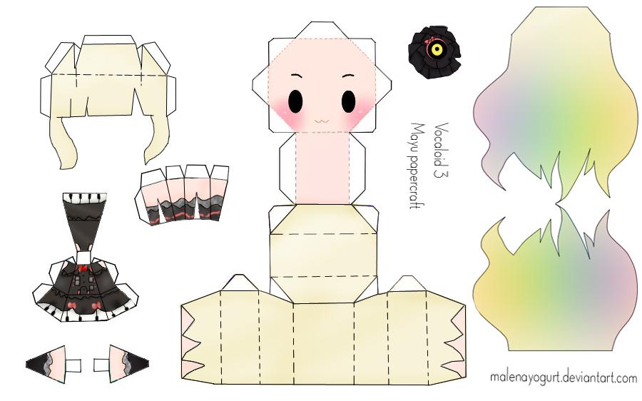 Vocaloid 3 Mayu Papercraft by MalenaYogurt on