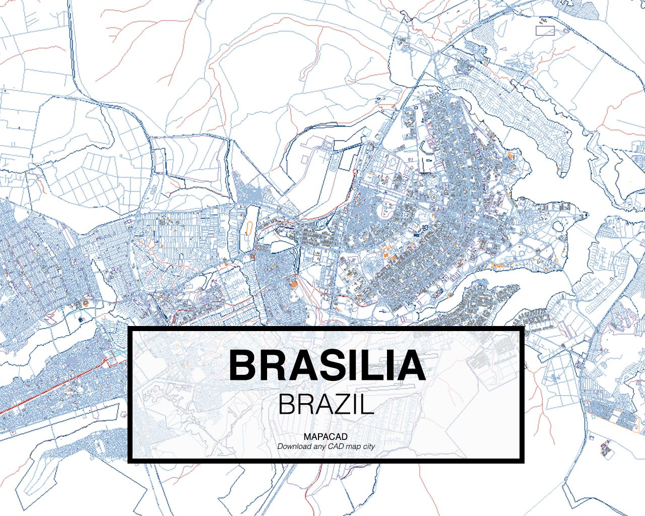 Brasilia brazil download cad map city in dwg ready to use in download cad map city in dwg ready to use in autocad gumiabroncs Image collections