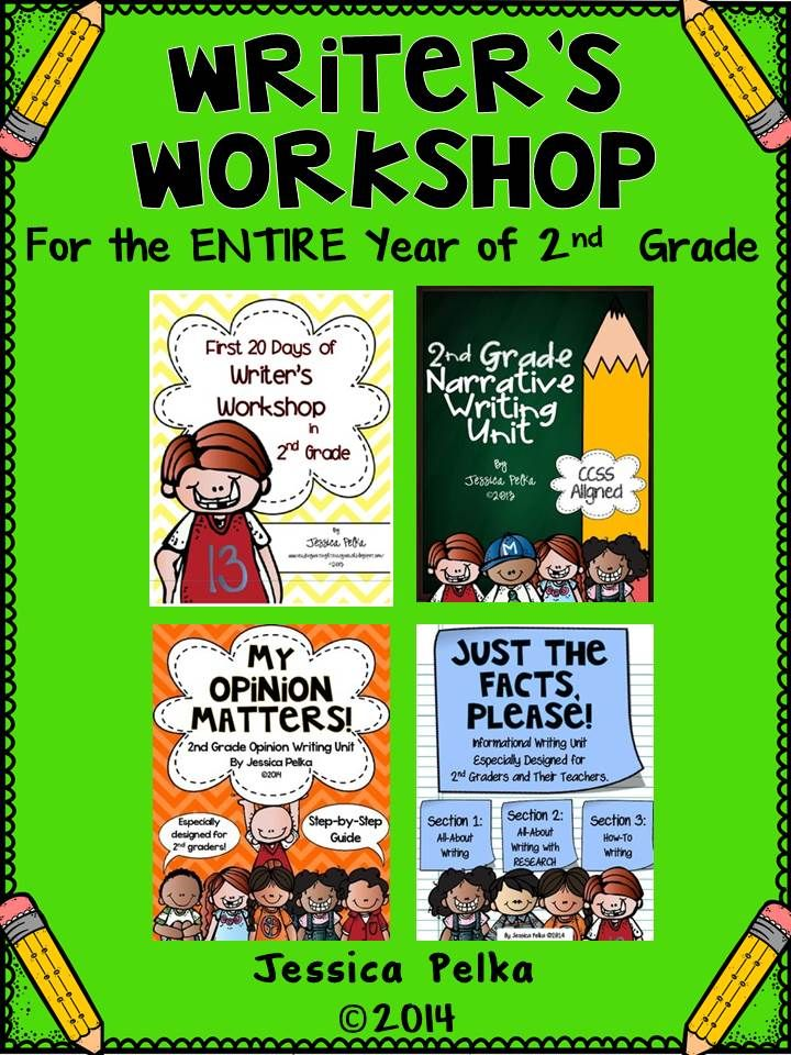 2nd Grade Writing Workshop BUNDLE - Writing Plans for the
