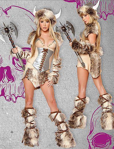 Fur Costume: THE VIKING @ OdGirl.com - Lingerie, Clothing, High Heel Shoes, Dancewear, Clubwear, Gothic Apparel, Minidress, Bridal Lingeries, Short Skirt, Bikini, Swimwear, PVC Leather and Gowns
