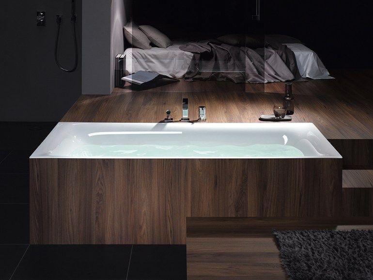 Vasca Da Bagno Rettangolare In Acciaio Smaltato Bettelux Bette Bathtub Built In Bathtub Bathroom Design