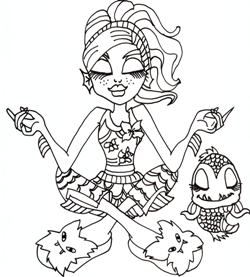 Happy Lagoona Blue Coloring Pages - Monster High Coloring Pages ... | 277x250