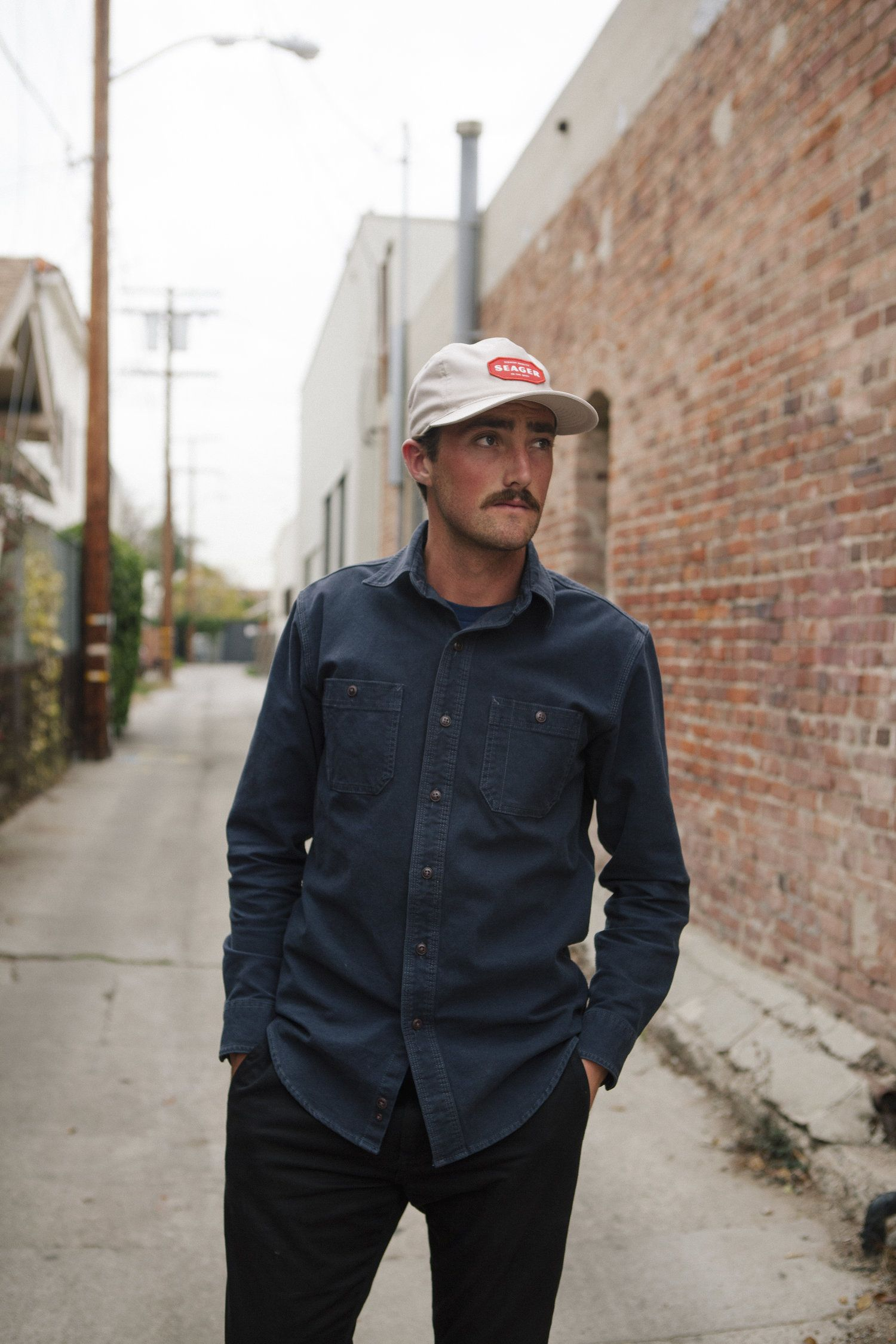0ad51f06fe6 The Welco is made of lightweight stretch cotton twill and features a custom  embroidered Seager Patch with a slightly curved visor.