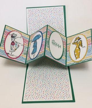 Paper Piecing Technique Beautiful You Stamp Set Twist Pop Card Twist Pop Pop Out Cards Fun Fold Cards