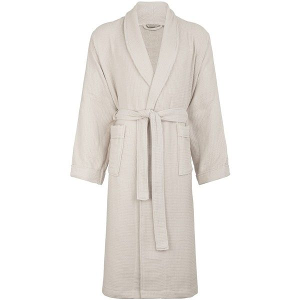 John Lewis Croft Collection Waffle Bath Robe , Silver ($44) ❤ liked ...