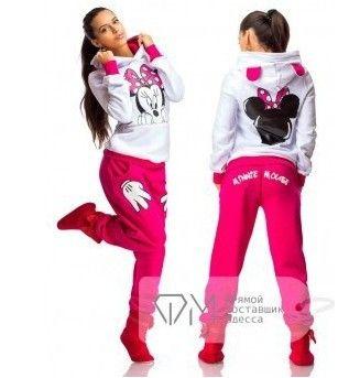 47a52a9daafe 2.015 Babie leto Minnie Mouse vytlačiť Šport Suit Tepláky Ženy Cartoon  Mikina nastaviť Dievčenské mikiny a nohavice