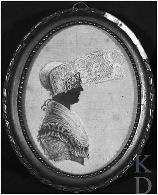 Portret van Johanna Verschuir (Franeker 1766 - Harlingen 1849), ca 1780-1800 #Friesland