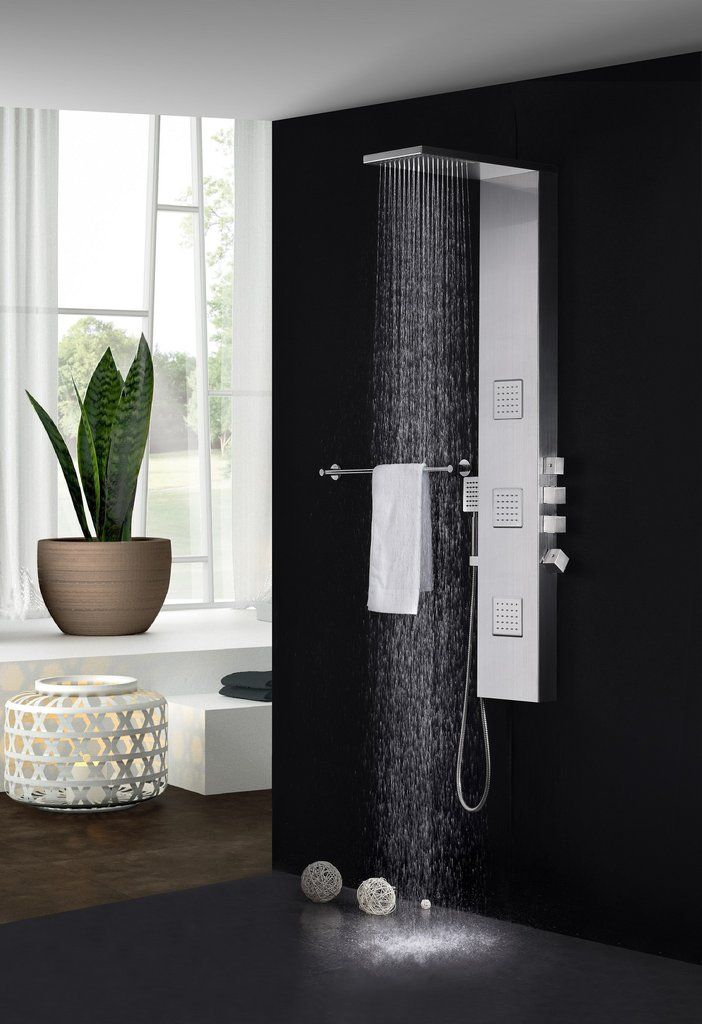 Fresca Modena Stainless Steel Thermostatic Shower Massage Panel ...