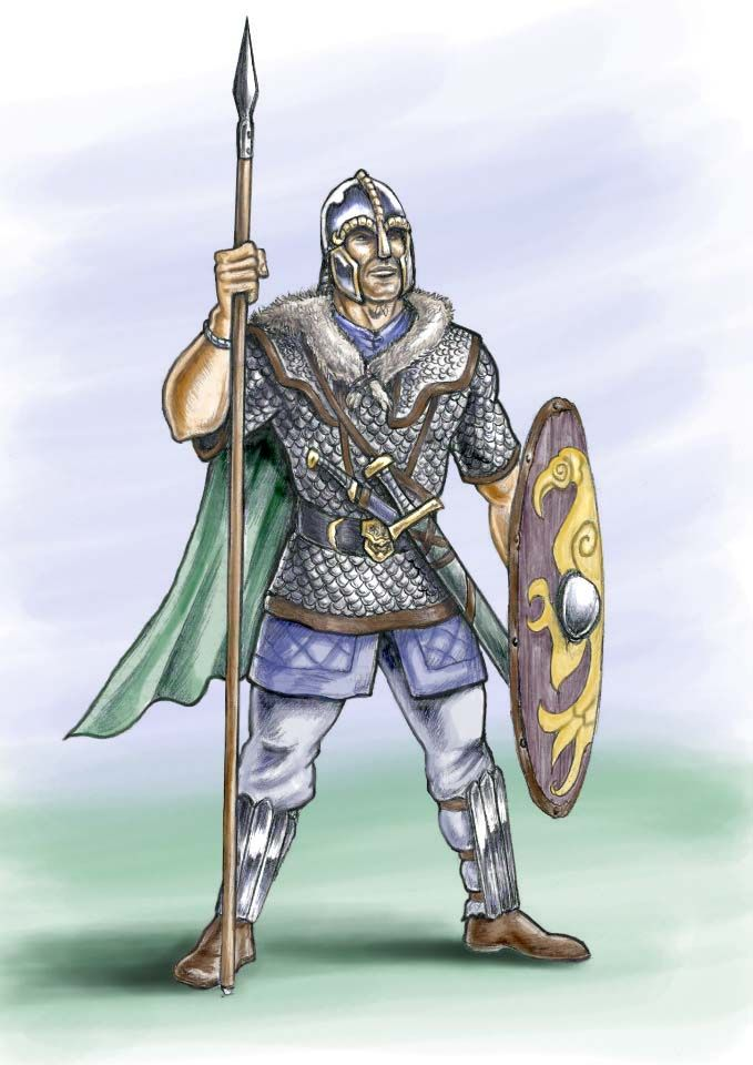 Anglo saxon warrior 7th century ad by jason pope http for Saxon warrior tattoos