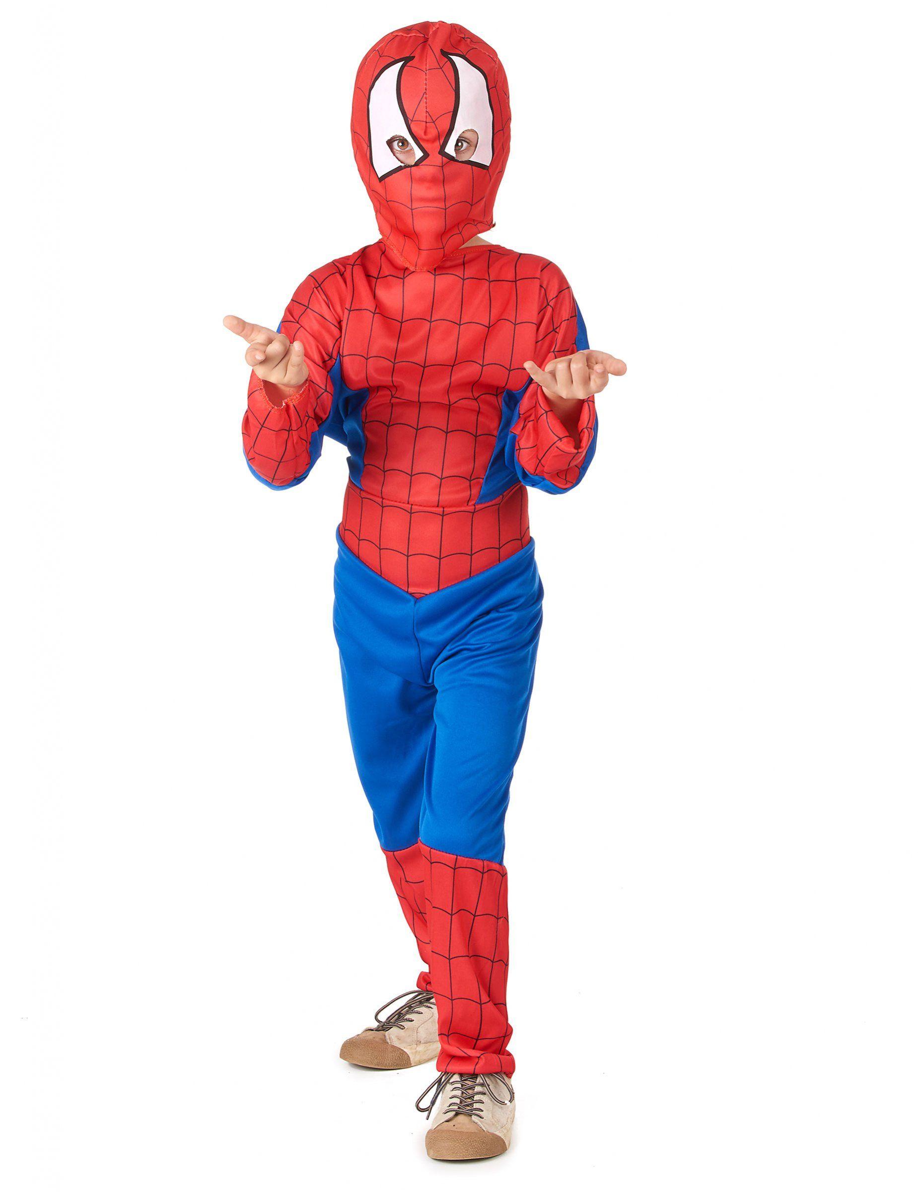 Disfraz hombre araña niño  Este disfraz de hombre araña para niño incluye  un mono y b243559fbb96