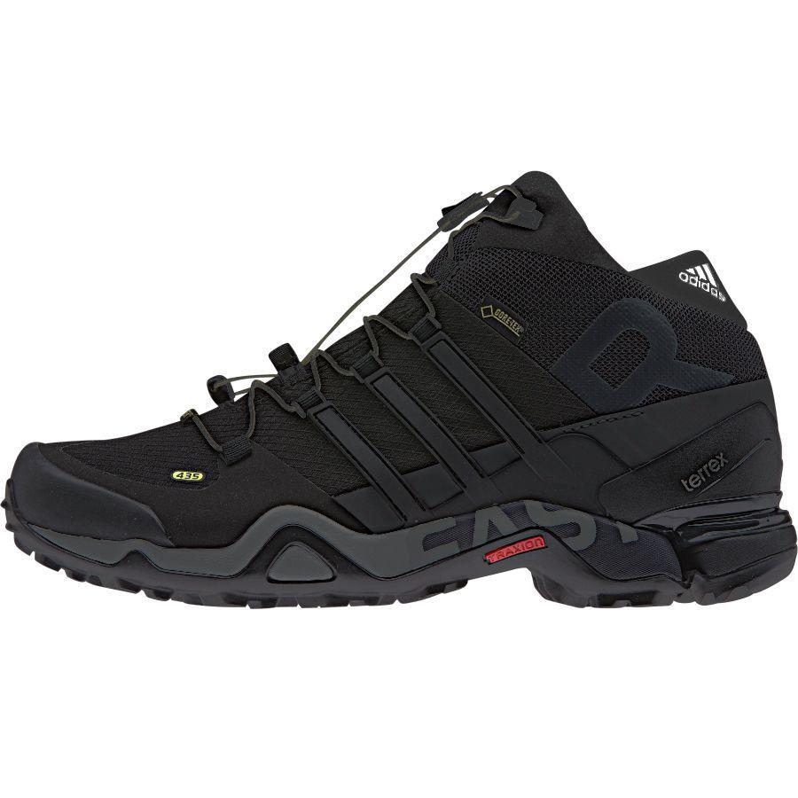 hot sale online 419c8 eb994 Adidas Outdoor Terrex Fast R Mid GTX Hiking Boot - Men s Black Dark  Grey White