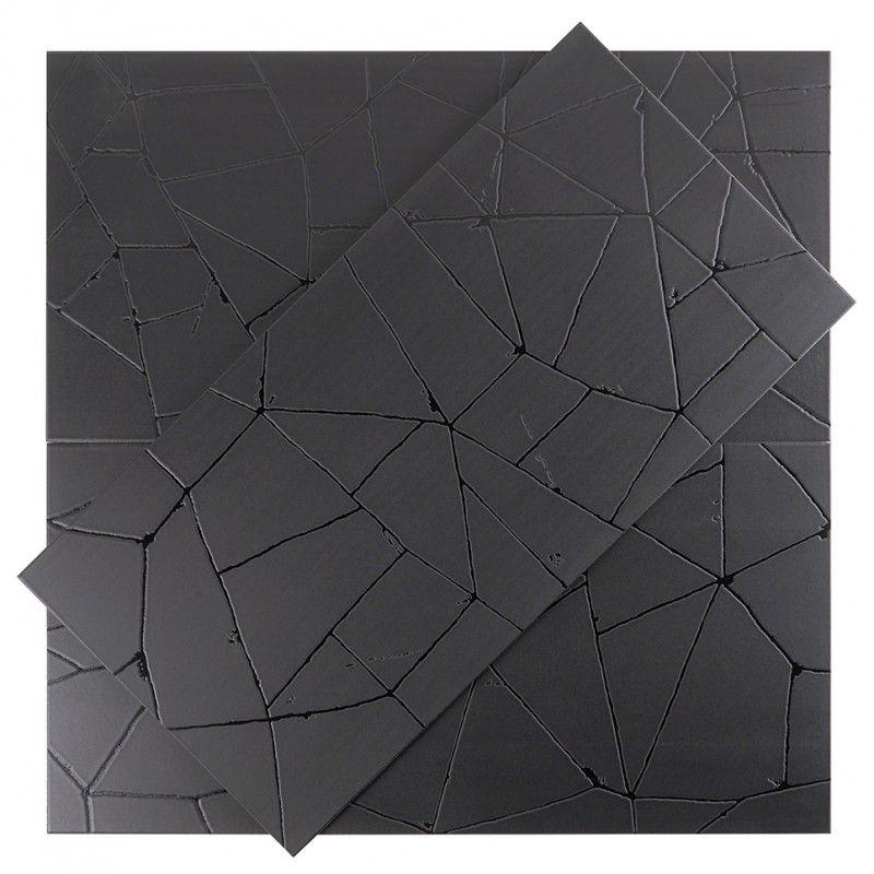 Faber Black 16x32 Matte Porcelain Tile In 2020 Dark Tile Floors Black Floor Tiles Wood Wall Tiles