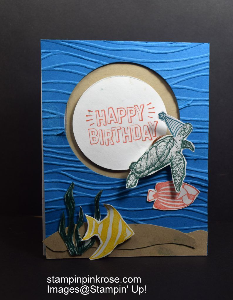 Stampinu up birthday card made with from land to sea and seaside