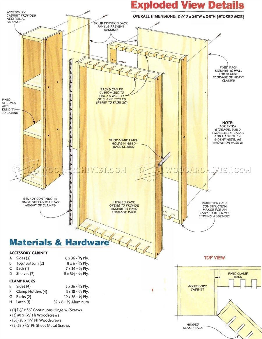 #2196 Wall Mounted Clamp Rack Plans - Workshop Solutions