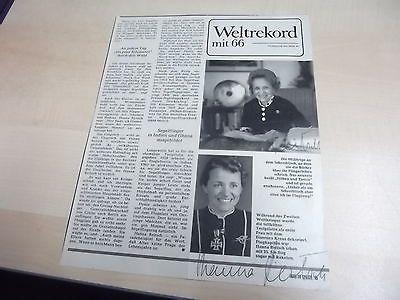 Hanna Reitsch berühmte Fliegerin-Zeitungsartikel