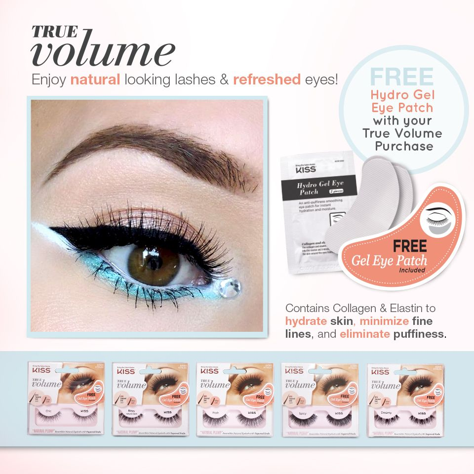 Don't your True Volume lashes at select Walgreens